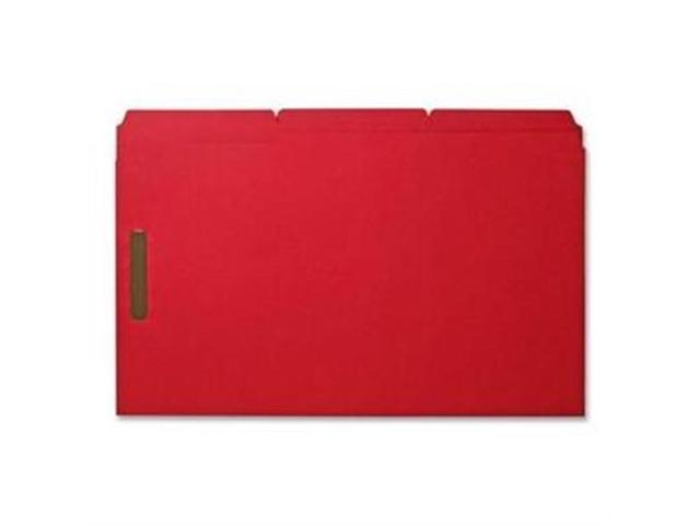 Fastener Folders w/ 2-Ply Tab 1/3 Ast Tab 50/BX Lgl Red