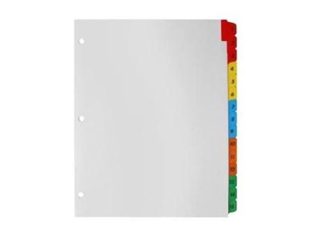 Index Dividers W/Table Of Contents 15-Tab 1-15 Multi