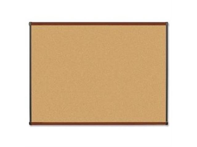 Natural Cork Board 4'x3' Mahogany Finish