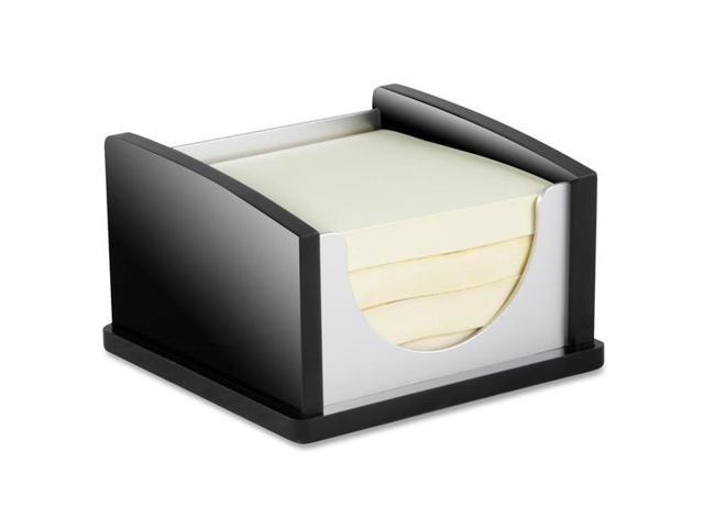 Kantek KTKBA305 Memo Pad Holder- Aluminum- Black-Acrylic