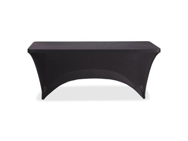 Iceberg 16521 6' Stretchable Fabric Table Cover 6' - Polyester, Spandex - Black