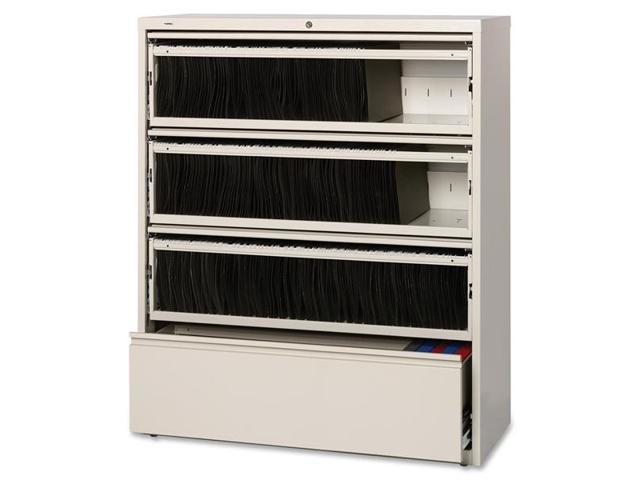 Lorell 43514 Receding Lateral File with Roll Out Shelves