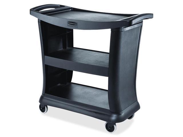 Rubbermaid 9T68 Executive Service Cart 3 Shelf - 300 lb CapacityPlastic - 38.9