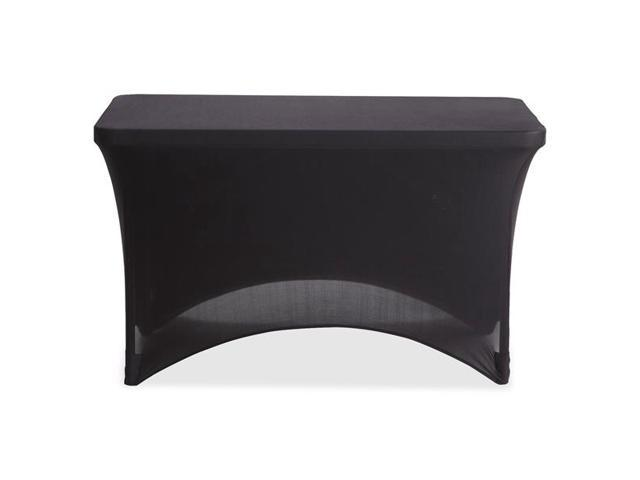 Iceberg 16511 4' Stretchable Fabric Table Cover 4' - Polyester, Spandex - Black