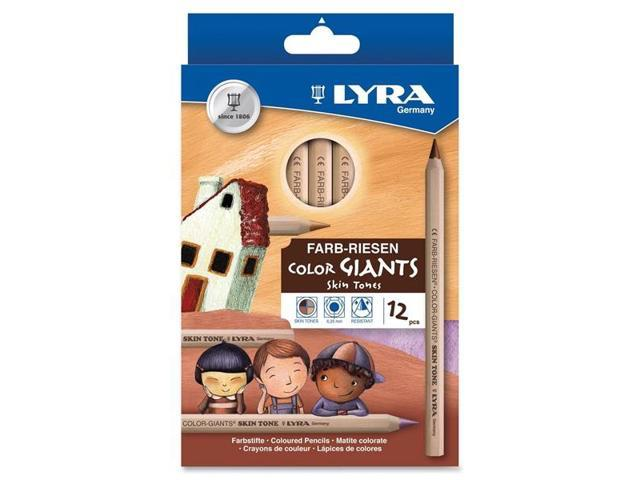 Dixon Ticonderoga  3931124 Lyra Color Giants Skin Tone Colored Pencils 6.3 mm - Assorted Lead - 12 / Set