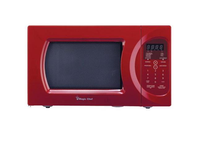 Magic Chef MCD992R 900-watt Microwave with Digital Touch, 0.9 Cubic Feet, Red