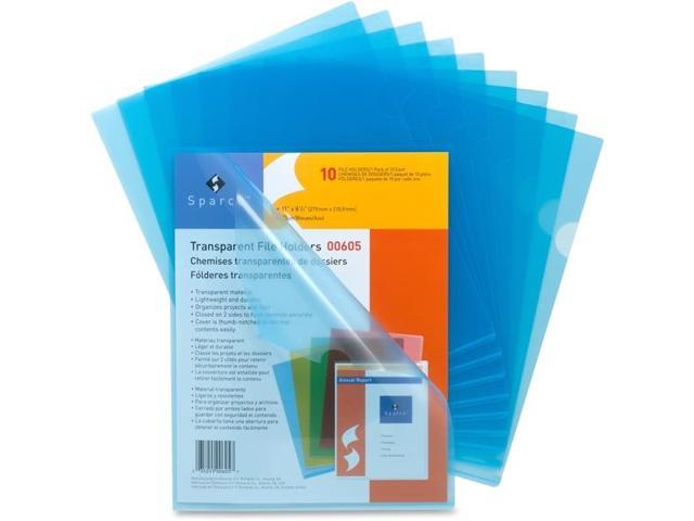 Sparco 00605 Transparent File Holder, 8.50