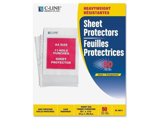 C-Line Products- Inc. CLI08013 Top Load Sheet Protec- Hvywght- 11-HP- 11-.75in.x8-.25- CL