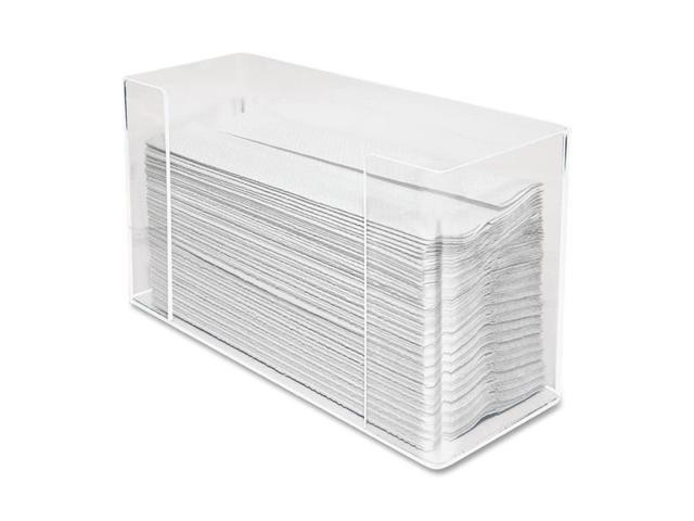 Kantek KTKAH190 C-Fold-Multifold Towel Dispenser- 11-.50in.4-.13in.x6-.75in.- Clear