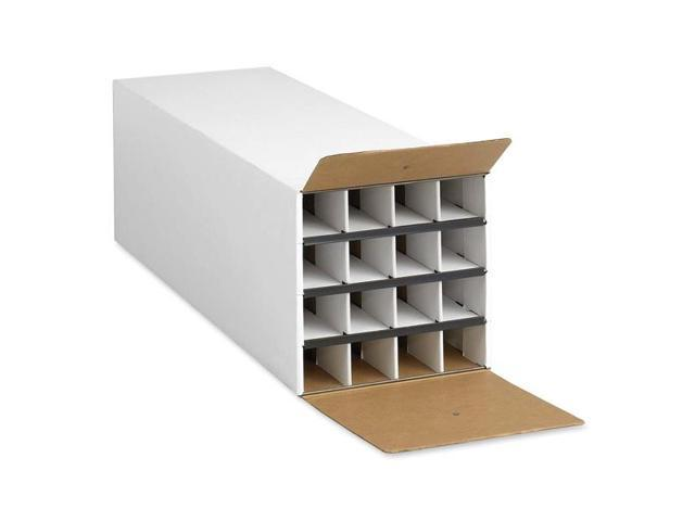 Safco Products Company SAF3098 KD Roll File- 16 Compartments- 12-.75in.x37in.x12-.50in.- White