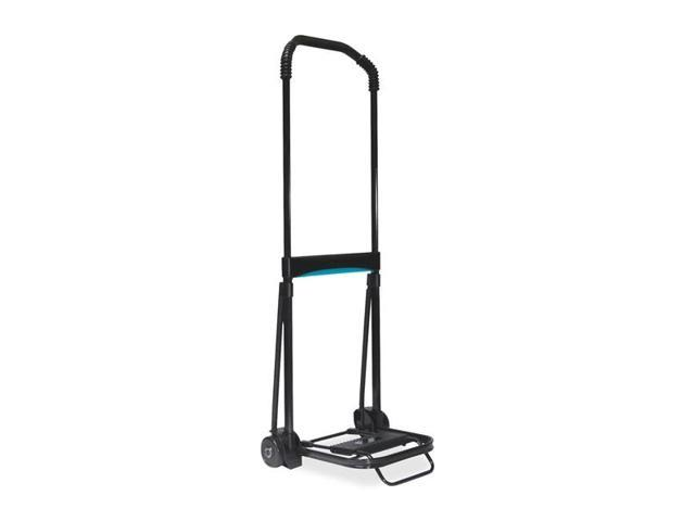 Kantek Ultra-Lite Folding Cart Telescopic Handle - 110 lb CapacitySteel, Aluminum - Black
