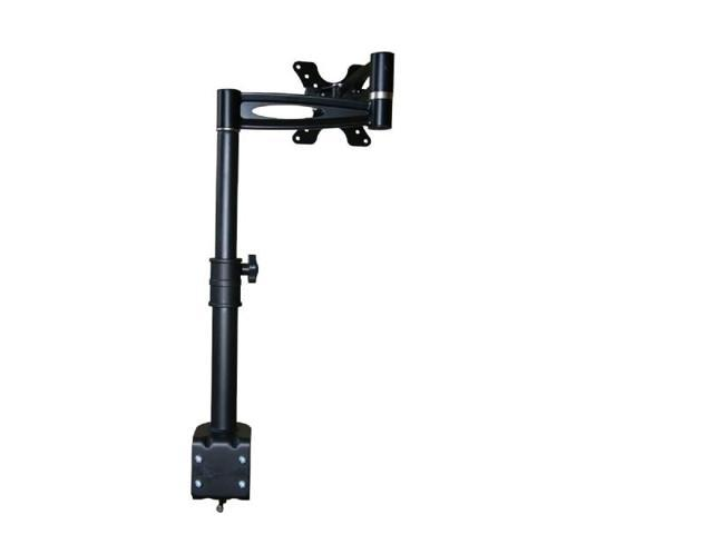 Monoprice 3-Way Adjustable Tilting Desk Mount Bracket for 13~30in Monitors up to 33 lbs, Black