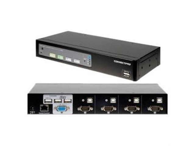 ConnectPRO - 4PORT USB  KVM SWITCH VGA WITH DDM & ACTIVE DDC