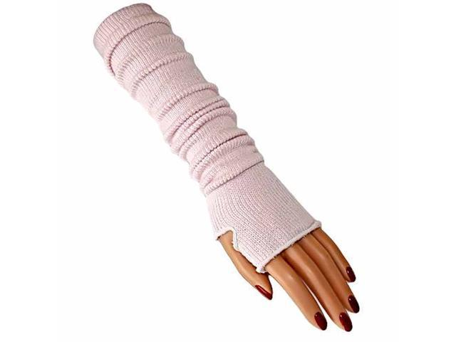 Cloud Pink Long Arm Warmers With Thumb Hole