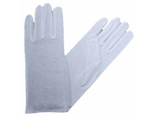 Women's White Stretchy Cotton Gloves