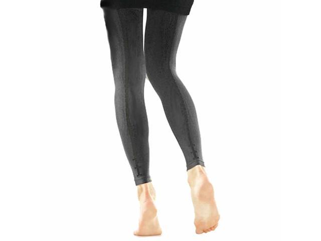 Gray Three Bow Back Seam Footless Fashion Tights