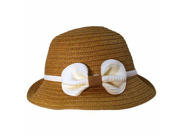 Tan Bucket Sun Bonnet With 2.5