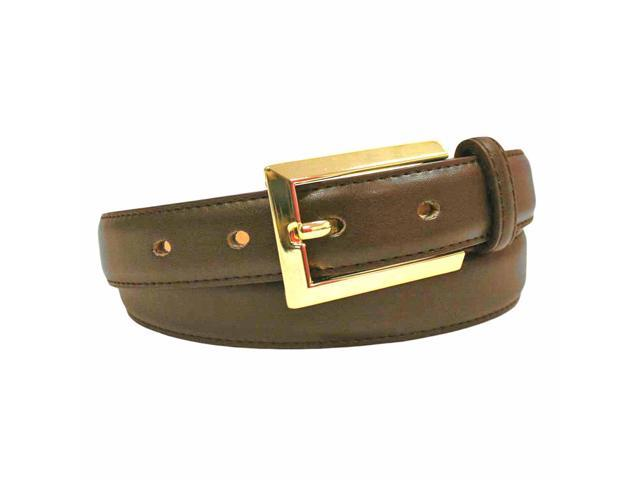 brown leather dress belt with gold buckle newegg