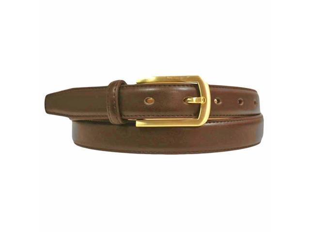brown thin leather belt with matte gold buckle newegg