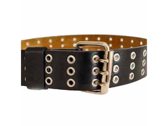 Black Triple Grommet Belt
