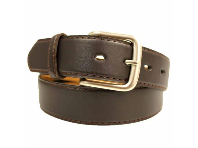 Brown Leather Men's Zipper Money Belt
