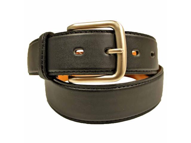 Men's Black Leather Zipper Money Belt