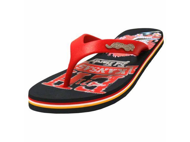 Blue & Red Multicolor Ed Hardy Beach Comber Women's Flip Flops