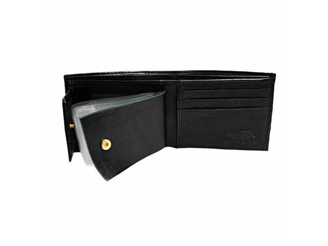 Slim Black Photo Holding Men's Bifold Wallet