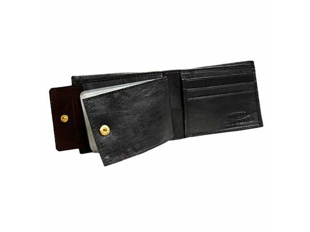 Dark Brown Slim Photo Holding Men's Bifold Wallet