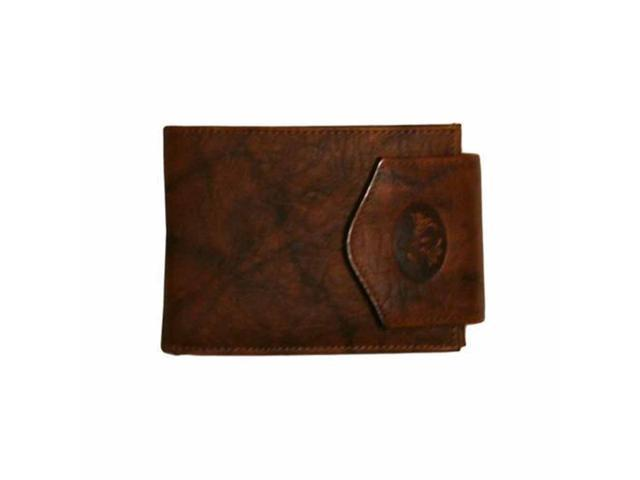 Brown Mahogany Ladies Billfold Leather Wallet