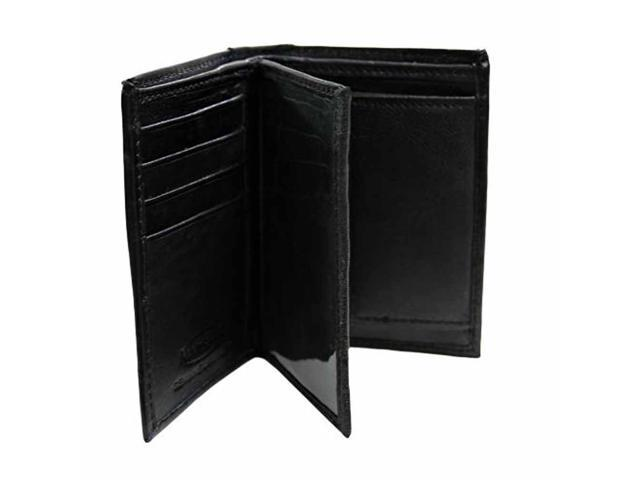 Slim Bifold Men's Black Wallet With Coin Holder