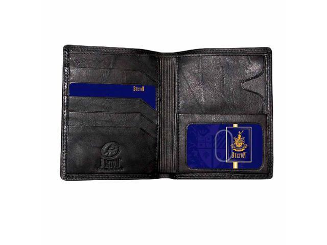 Black Buxton Men's Leather Credit Card Wallet