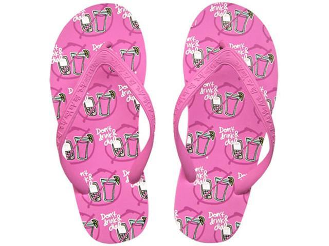 Don't Drink & Dial Novelty Women's Comfy Flip Flops