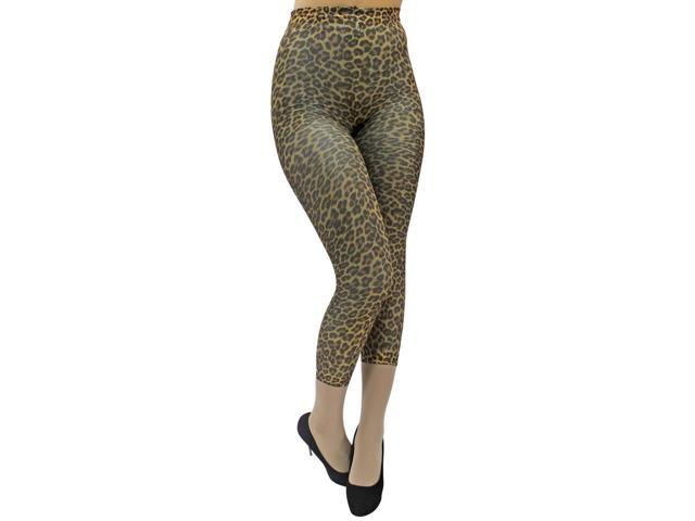 Cheetah Spotted Spandex Footless Dance Leggings Tights