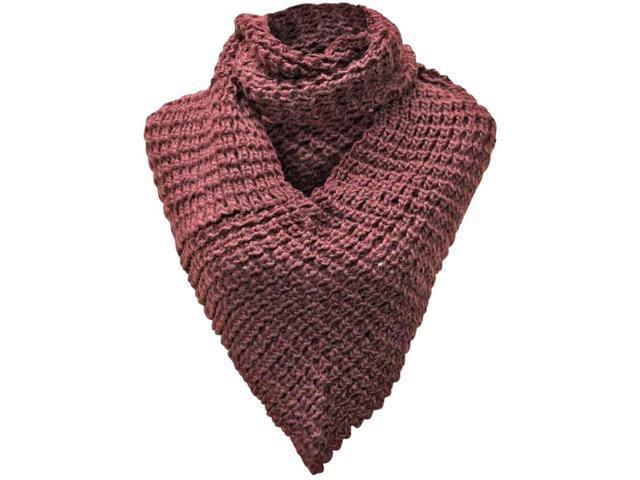 Purple Heavy Knit Triangle Infinity Scarf