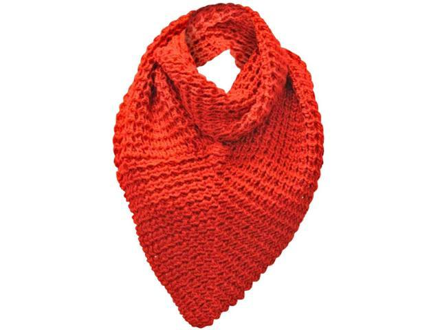 Red Heavy Knit Triangle Infinity Scarf