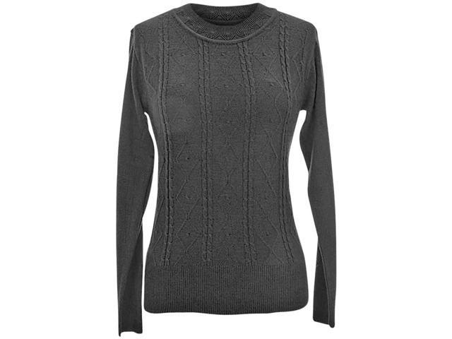 Black Crew Neck Knit Sweater 21