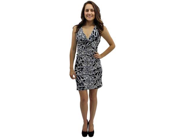 Black & White Leopard Self Tie O-ring Halter Summer Sun Dress