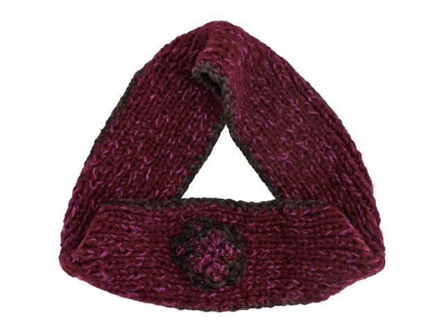 Burgundy Crochet Knit Infinity Scarf