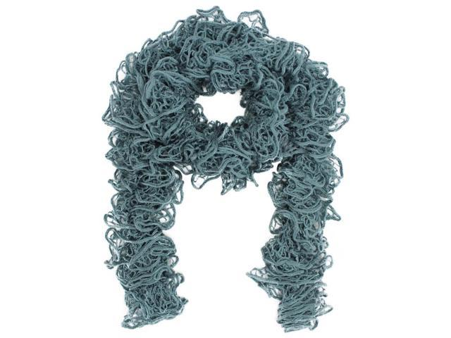 Blue Soft Wispy Lace Knit Scarf