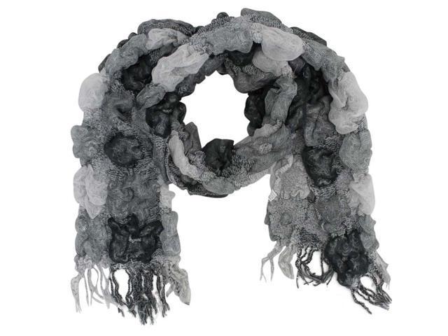 Gray Unique Victorian Style Scarf