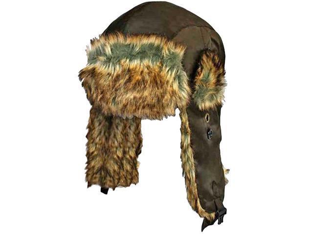Brown With Brown Faux Fur Trooper Aviator Hat