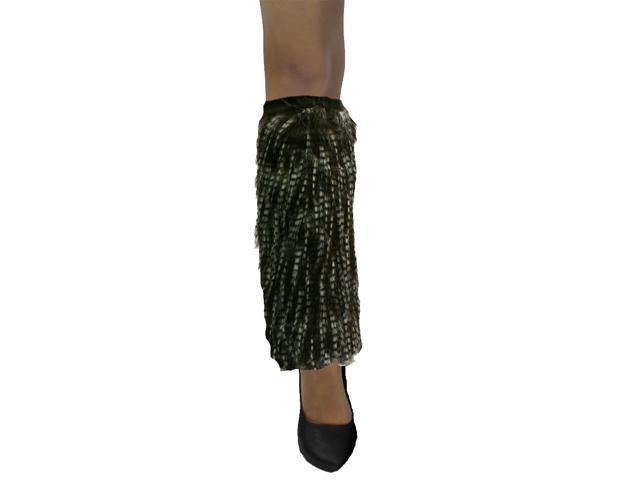 Brown Shaggy Long Wispy Plush Fur Leg Warmer Muff