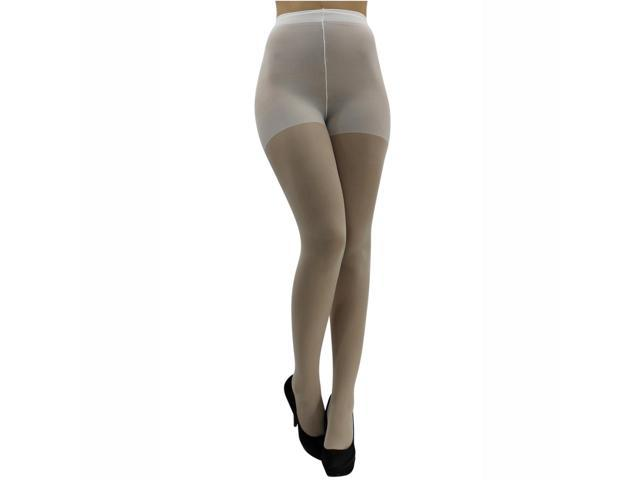 Ivory Spandex Sheer Control Top Tights