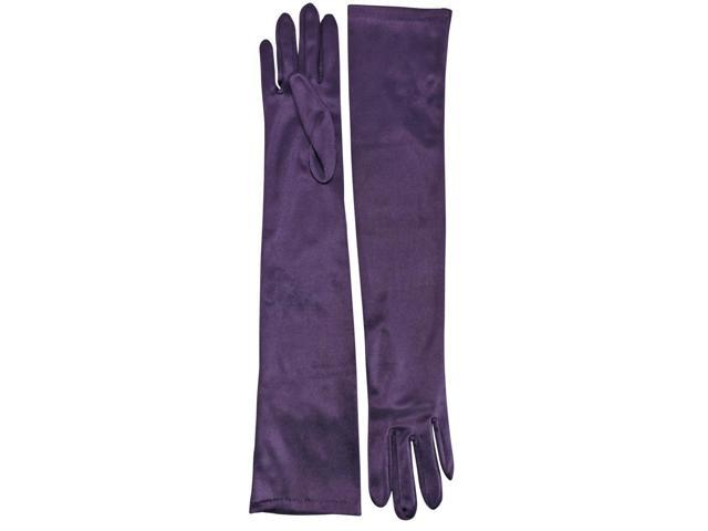 Purple Long 3/4 Arm Opera Length Evening Gloves