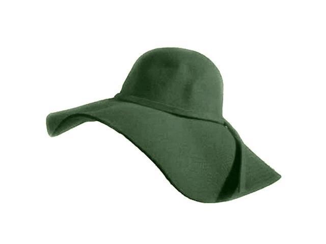 Gray Wide Brim Wool Floppy Hat