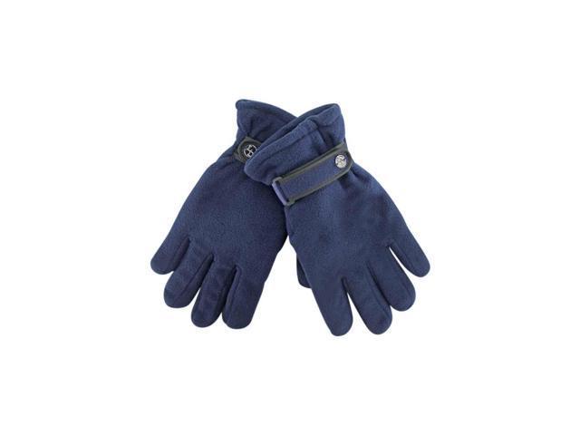 Navy Blue Polar Fleece Men's Thermal Insulated Gloves
