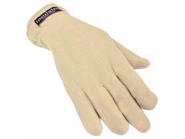 Tan Polar Fleece Women's Thermal Gloves