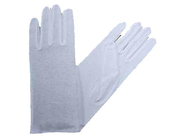 Women's White Stretchy Cotton Gloves