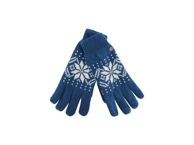 Blue Thermal Insulated Men's Snowflake Gloves